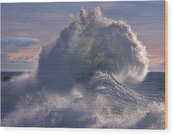 Rough Sea 19 Wood Print
