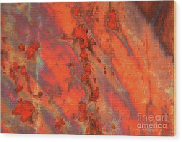Rust Abstract Wood Print by Carol Groenen