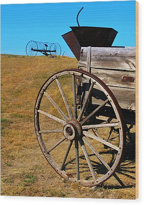 Rustic Wagon Wood Print by Perry Webster