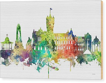 Rutherglen Scotland Skyline Wood Print by Marlene Watson