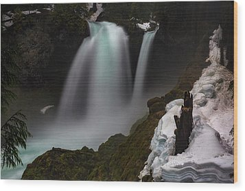 Wood Print featuring the photograph Sahalie Falls by Cat Connor