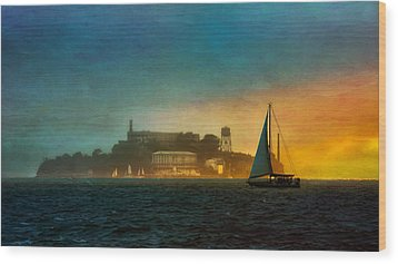 Sailing By Wood Print