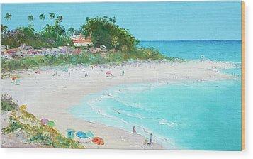 San Clemente Beach California Wood Print by Jan Matson