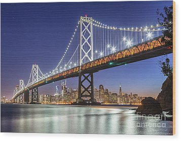 San Francisco City Lights Wood Print by JR Photography