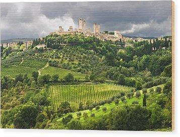 San Gimignano Tuscany Italy Wood Print