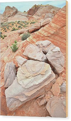 Wood Print featuring the photograph Sandstone Cove In Valley Of Fire by Ray Mathis
