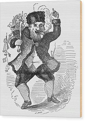 Santa Claus, 1849 Wood Print by Granger