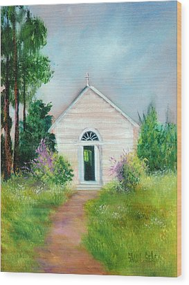 Santa Rosa Chapel Wood Print by Sally Seago