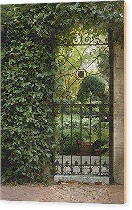 Savannah Gate Wood Print