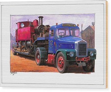 Scammell Highwayman. Wood Print by Mike  Jeffries