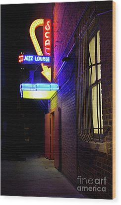 Wood Print featuring the photograph Scat Jazz Lounge 1 by Elena Nosyreva