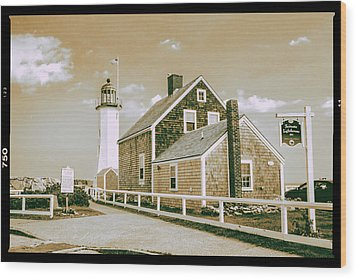 Scituate Lighthouse In Scituate, Ma Wood Print