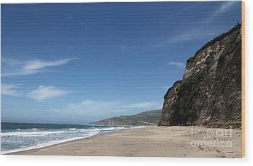 Scott Creek Beach California Usa Wood Print by Amanda Barcon