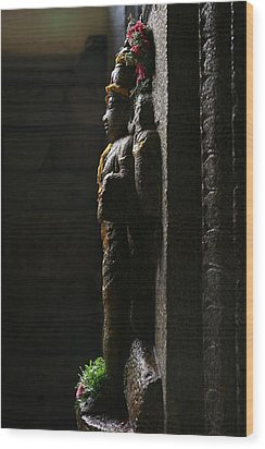 Sculpture Wood Print by Deepak Pawar
