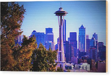Seattle Afternoon Wood Print by Martin Cline