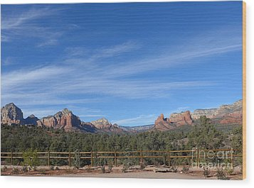 Sedona Beauty  Wood Print