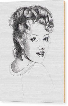Self Portrait Wood Print by Scarlett Royal