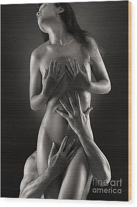 Sensual Photo Of Man And Woman Wood Print by Oleksiy Maksymenko