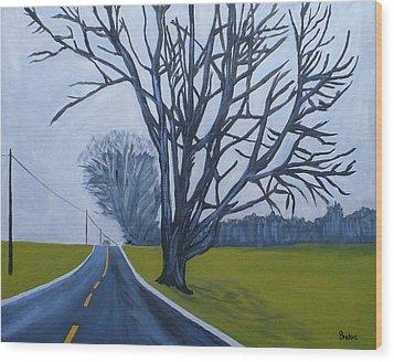Sentinel Wood Print by Laurie Breton