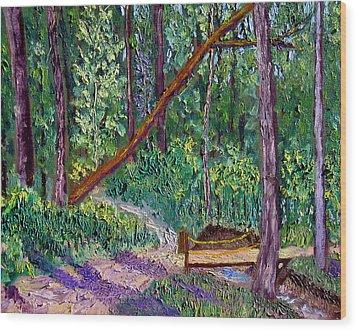 Sewp Trail Bridge Wood Print by Stan Hamilton