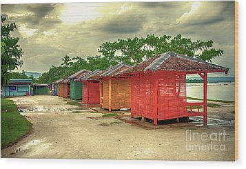 Wood Print featuring the photograph Shacks by Charuhas Images