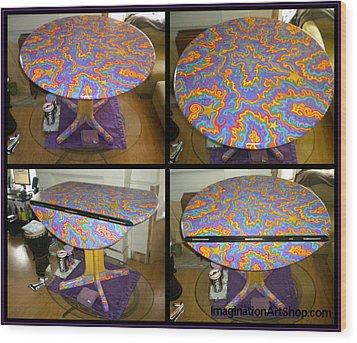 Sharpie Star Table Wood Print by Mandy Shupp
