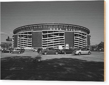 Shea Stadium - New York Mets Wood Print