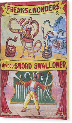 Sideshow Poster, C1975 Wood Print by Granger