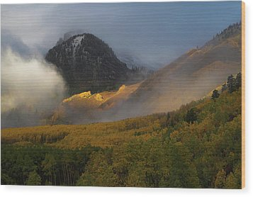 Wood Print featuring the photograph Siever's Mountain by Steve Stuller
