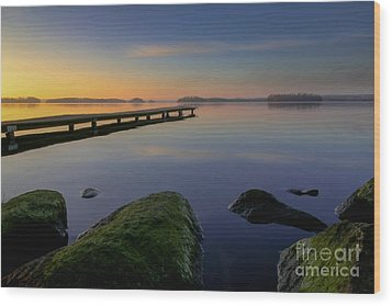 Wood Print featuring the photograph Silence Lake by Franziskus Pfleghart