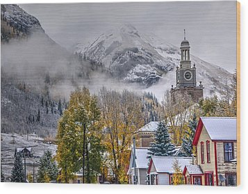 Silverton Colorado Wood Print by Charlotte Schafer