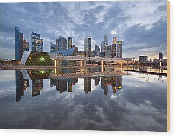 Singapore Cityscape Wood Print