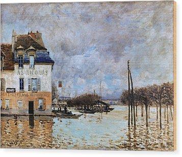 Sisley: Flood, 1876 Wood Print by Granger