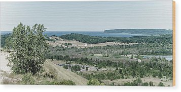 Wood Print featuring the photograph Sleeping Bear Dunes National Lakeshore by Alexey Stiop