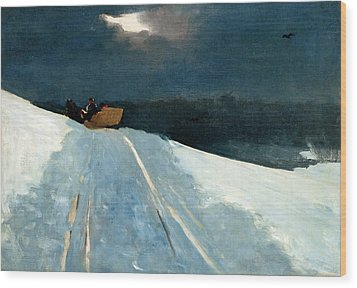 Wood Print featuring the painting Sleigh Ride by Winslow Homer