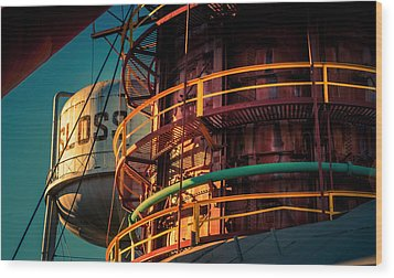 Sloss Furnaces Wood Print by Phillip Burrow