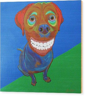 Smiley Wood Print