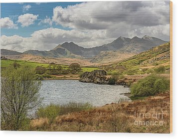 Wood Print featuring the photograph Snowdon Horseshoe by Adrian Evans