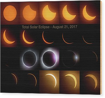 Solar Eclipse - August 21 2017 Wood Print by Art Whitton