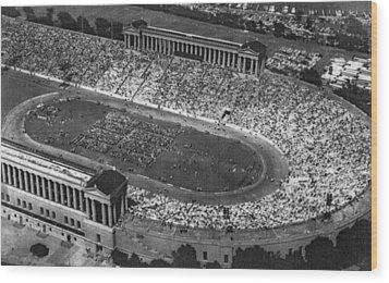 Soldier Field, Chicago, Illinois, Circa Wood Print by Everett
