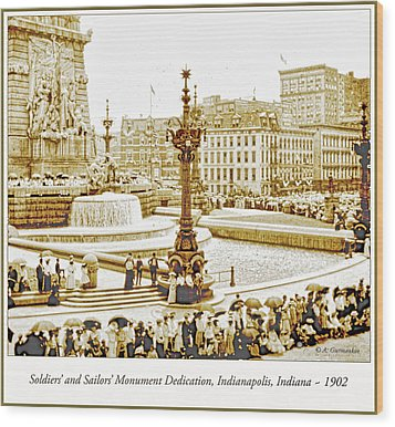 Soldiers' And Sailors' Monument Dedication, Indianapolis, Indian Wood Print by A Gurmankin