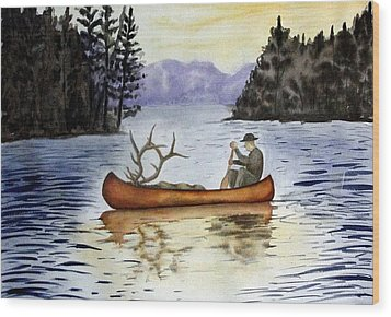 Solitude Wood Print by Jimmy Smith
