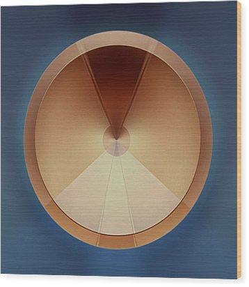 Some Kinda Ventilator Wood Print by Peter Lloyd