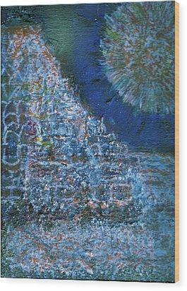 Somewhere On Jupiter Wood Print by Anne-Elizabeth Whiteway