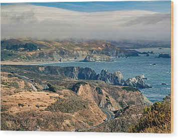 Wood Print featuring the photograph Sonoma Coast by Kim Wilson