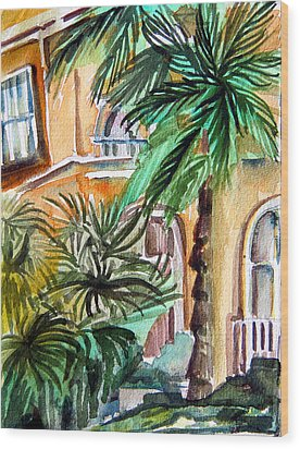 Sorrento Wood Print by Mindy Newman