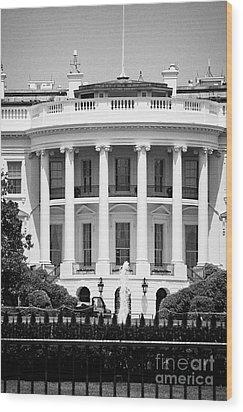 south facade of the white house Washington DC USA Wood Print by Joe Fox