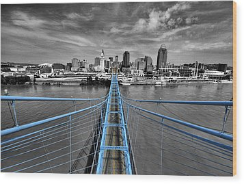 South Tower - Selective Color Wood Print by Russell Todd