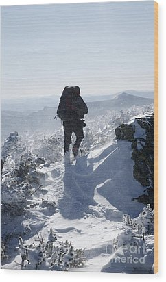 South Twin Mountain - White Mountains New Hampshire Wood Print by Erin Paul Donovan