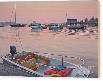 Wood Print featuring the photograph Southwest Harbor Sunrise by Susan Cole Kelly